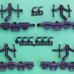 EMD HTCR2 RADIAL FOR ATHEARN 3 AXLE DASH 2 SD70