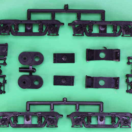 OS Swing Hngr Psnger CarTrucks w/o Whlsts Walthers Psngr Car