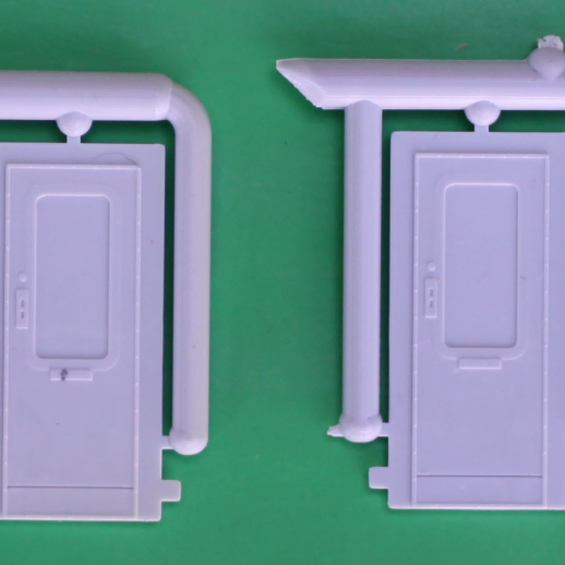 Ribbed Passenger Car End Doors for Baggage Cars