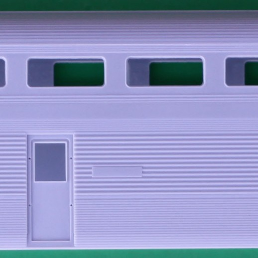 "Unpainted Budd ""El Capitan"" Hi-Level Passenger Dining Car Shell"
