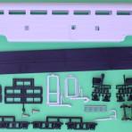 Unpainted Amtrak Budd Hi-Level Coach Dorm Passenger Car Kit