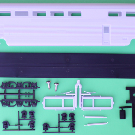 "Unpainted Budd ""El Capitan"" Hi-Level Dining Passenger Car Kit"